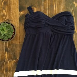 Sonoma - Strapless Sundress - Navy and White - M